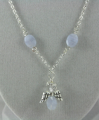 Blue Lace Agate - Angel of Calm and Positive Thinking Necklace