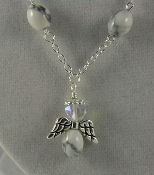 White Howlite - Angel of Calm Thinking Necklace