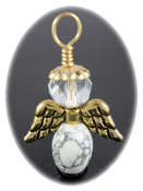White Howlite - Angel of Calm Thinking