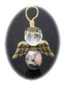 Fossil  Agate - Angel of Protection in Travel