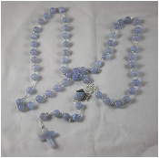 Blue Lace Agate - Angel of Calm and Positive Thinking Rosary