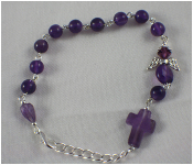 Amethyst - Angel of Cleansing Prayer Bracelet