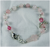 Rose Quartz - Angel of Emotional Healing Prayer Bracelet