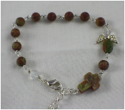 Unakite - Angel of Stability Prayer Bracelet