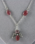 Rhodochrosite - Angel of Love and Compassion Necklace