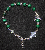 Malachite - Angel of Transformation Prayer Bracelet