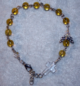 Citrine Angel of Prosperity Prayer Bracelet